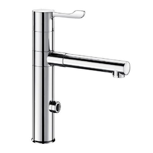 Delabie 20870T1 TEMPOMATIC MIX Deck-Mounted Infrared Sensor Sink Mixer with Removable BIOCLIP Spout